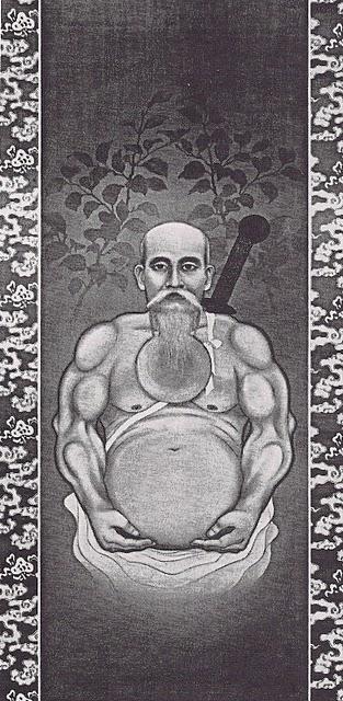 O-Sensei as painted by Eiji Tamura