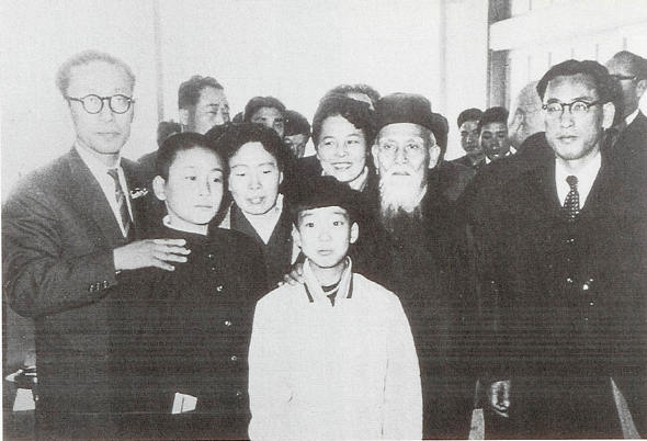Morihei Ueshiba at Haneda Airport