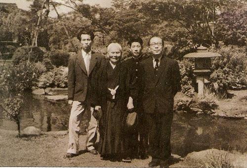 Shigeru Egami and Gichin Fuknakoshi