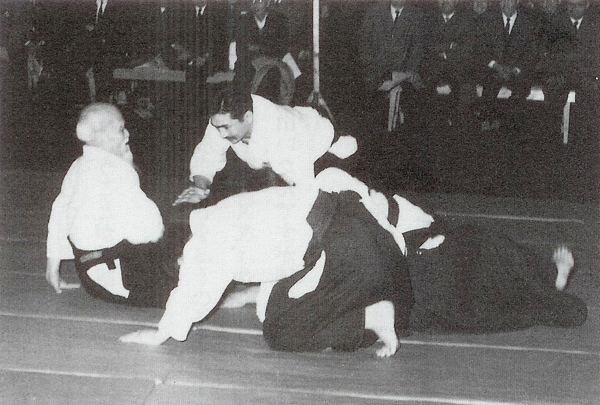 Hiroshi Isoyama taking ukemi for O-Sensei