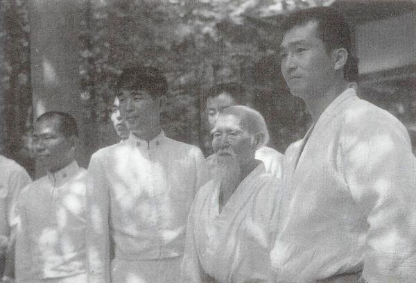 Hiroshi Isoyama and Morihei Ueshiba