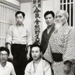 Seiseki Abe with Morihei Ueshiba