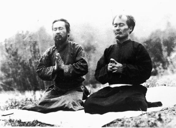 Matsumura and Ueshiba - Chinkon Kishin