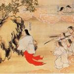 Izanagi and Izanami returning from Yomi