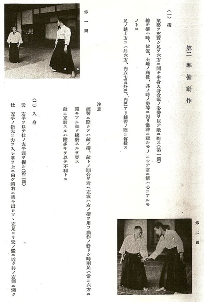 Kamae - from the technical manual Budo, 1938