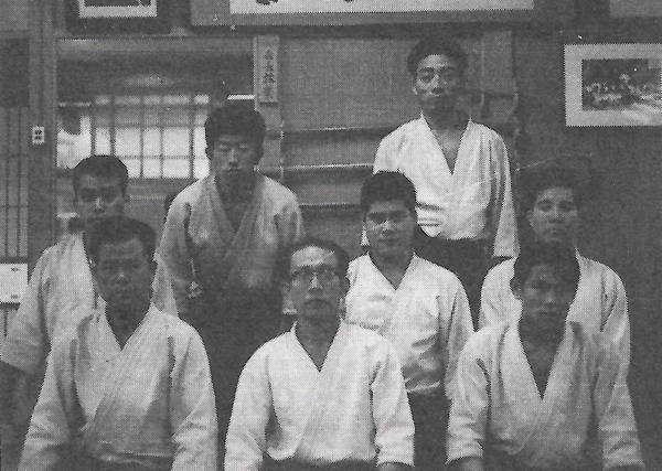 Group photo with Kisshomaru Ueshiba