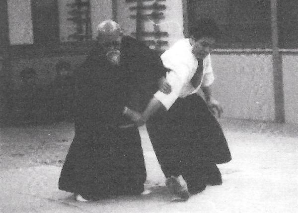 Kenji Shimizu and Morihei Ueshiba demonstration