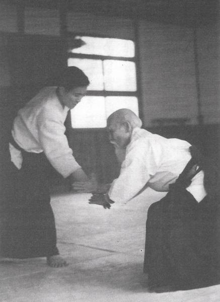 Kenji Shimizu and Morihei Ueshiba