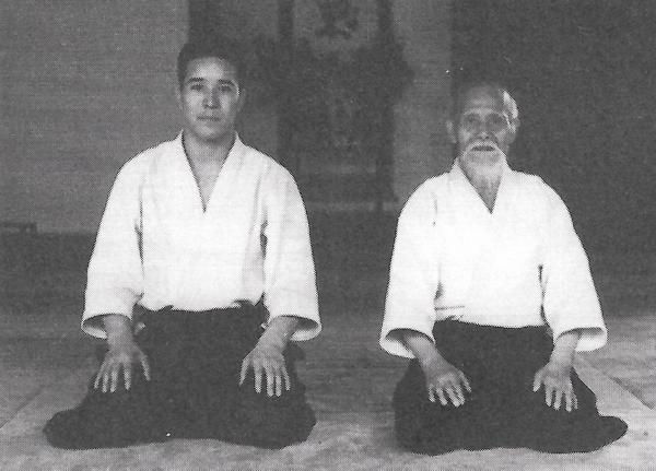 Kenji Shimizu Sensei with Aikido Founder Morihei Ueshiba