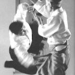Kisshomaru Ueshiba at Aikikai Hombu Dojo