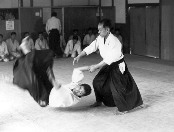 Kisshomaru Ueshiba at Aikikai Hombu Dojo in 1967