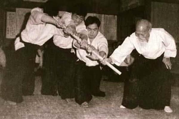 Yasuo Kobayashi and Morihei Ueshiba
