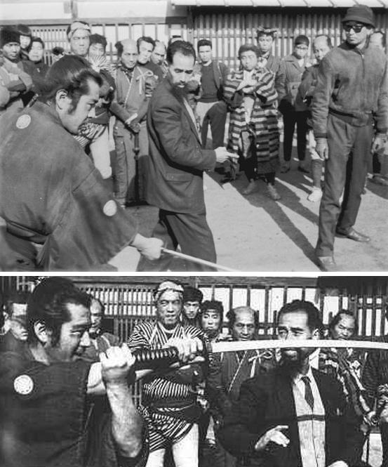 Yoshio Sugino and Toshiro Mifune