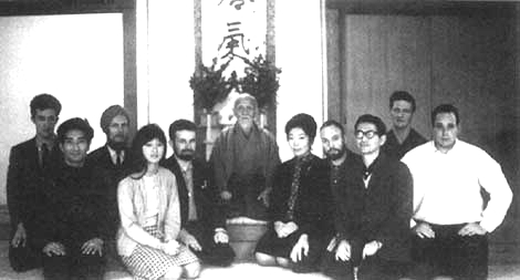 Morihei Ueshiba and foreign students