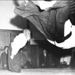 Morihei Ueshiba and Hiroshi Tada in 1958