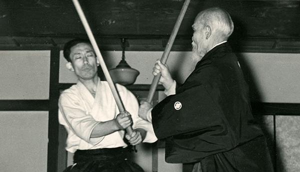 Morihei and Kisshhomaru Ueshiba