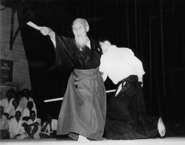 Morihei Ueshiba at McKinley High School 1961