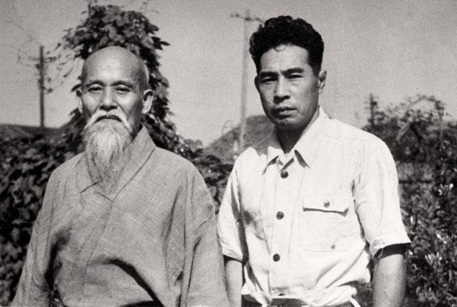 Morihei Ueshiba and Minoru Mochizuki
