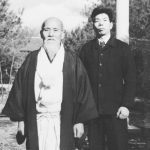 Morihiro Saito and Morihei Ueshiba - 1955