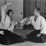 Morihei Ueshiba at the Noma Dojo