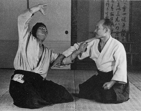 Morihei Ueshiba at the Noma Dojo