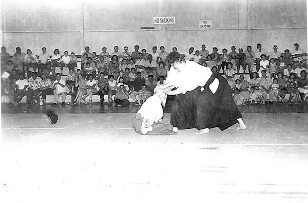 Morihei Ueshiba in Hawaii 1961