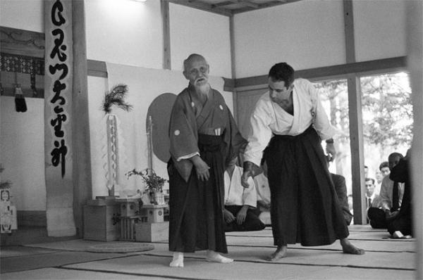 Morihei Ueshiba with Robert Frager
