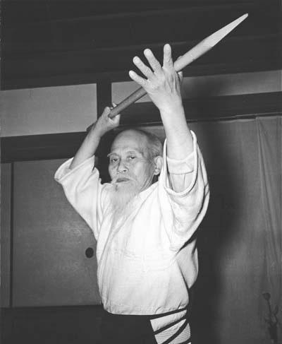 Morihei Ueshiba spear