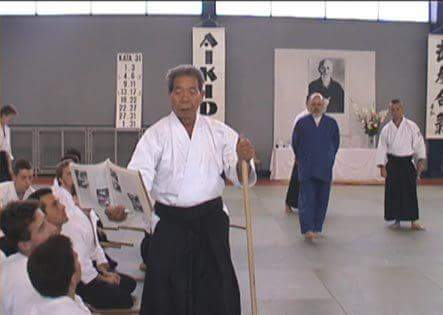 "Morihiro Saito teaching from the 1938 technical manual ""Budo"""