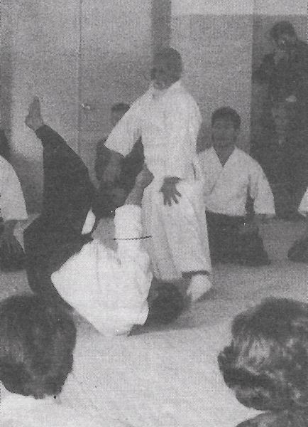 Morito Suganuma and Morihei Ueshiba