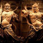 A-un statues at Todaiji