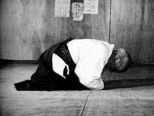 Morihei Ueshiba Bowing