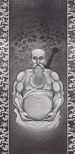 Eiji Tamura's drawing of Morihei Ueshiba