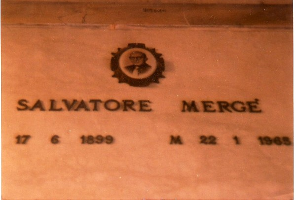 The grave of Salvatore Merge