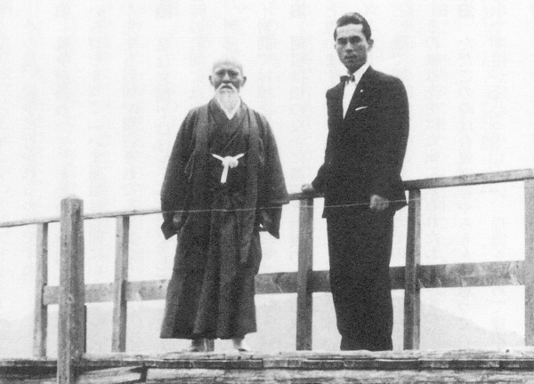 Sunadomari and Ueshiba at Lake Ikeda
