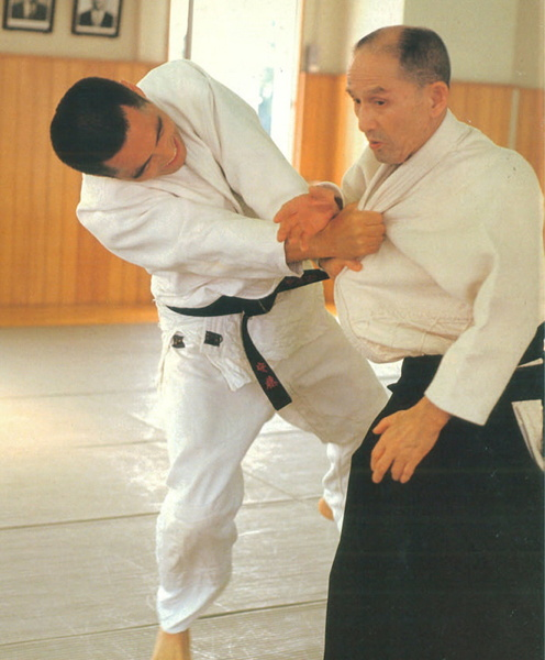 Gozo Shioda and Tsuneo Ando at Yoshinkan Hombu