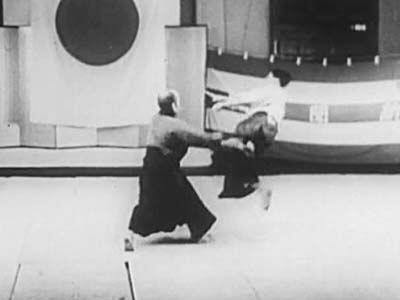 Morihei Ueshiba at the Asahi Newspaper 1935