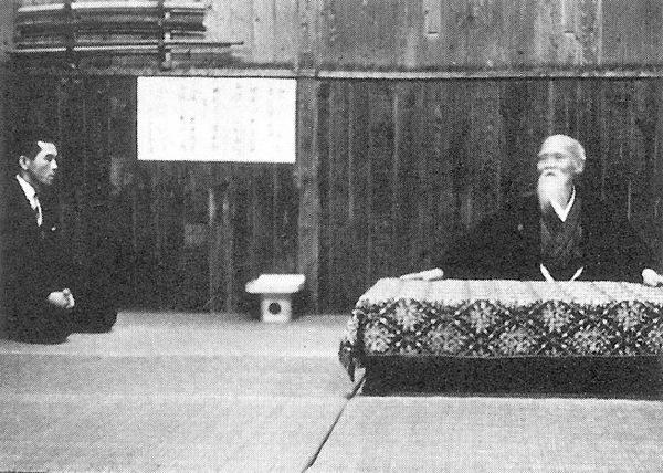 Morihei Ueshiba and Kanshu Sunadomari