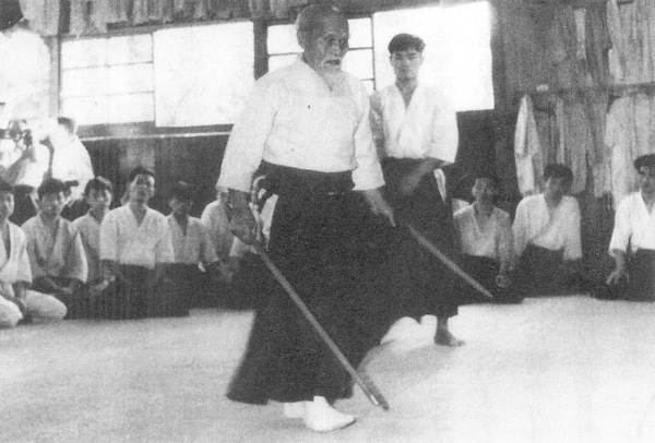 Morihei Ueshiba Teaching at the Manseikan